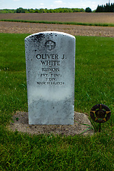 Hittle Grove Cemetery near Armington in Tazwell County.<br /> <br /> Olvier J White Illinois PVT 7 INF March 14, 1934