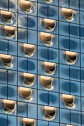 Elbphilharmonie, Hamburg, Germany; View of facade of new Elbphilharmonie opera house in Hamburg, Germany.