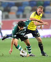 20100819: LISBON, PORTUGAL - Sporting Lisbon vs Brondby: UEFA Europa League 2010/2011 Play-Offs - First Leg. In picture: Matias Fernandez (Sporting) and Michael Krohn-Dehli (Brondby). PHOTO: Alexandre Pona/CITYFILES