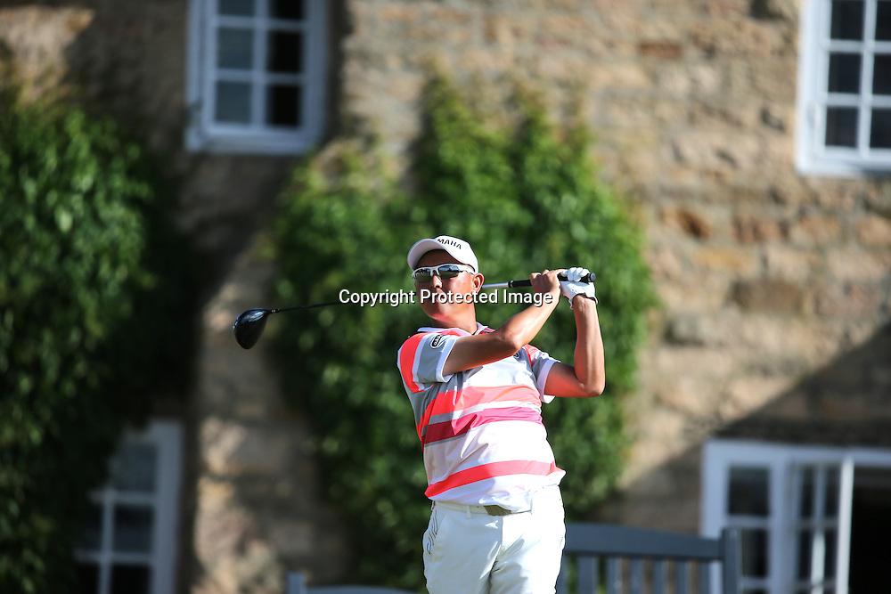 Toru Taniguchi (JPN),<br /> JULY 18, 2013 - Golf :<br /> Toru Taniguchi of Japan in action on 10th hole during the first round of the 142nd British Open Championship at Muirfield in Gullane, East Lothian, Scotland. (Photo by Koji Aoki/AFLO SPORT)