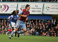 Photo: Lee Earle.<br /> Portsmouth v Aston Villa. The Barclays Premiership. 02/12/2006. Villa's Gareth Barry turns away to celebrate after scoring the opening goal from the spot.