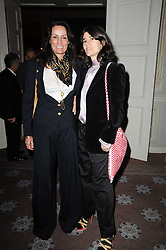 Left to right, TRISHA SIMONON and BELLA FREUD at a party to celebrate Penguin's reissue of Nancy Mitford's 'Wigs on The Green' hosted by Tatler at Claridge's, Brook Street, London on 10th March 2010.