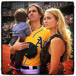 Barry Zito and family, 2015