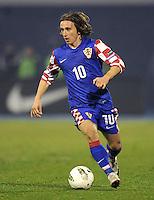 Fussball International, Nationalmannschaft   EURO 2012 Play Off, Qualifikation, Kroatien - Tuerkei       15.11.2011 Luka Modric (Kroatien)
