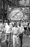 Bilsthorpe Branch banner. NUM Centenary Demonstration and Gala, Barnsley.