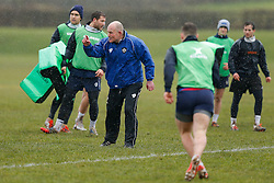 Bristol Director of Rugby Andy Robinson oversees the training session - Photo mandatory by-line: Rogan Thomson/JMP - 07966 386802 - 13/02/2015 - SPORT - RUGBY UNION - Bristol, England - Bristol Rugby Club Training Ground, Station Road, Henbury - Training Session.