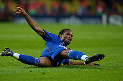 MOSCOW, RUSSIA - Wednesday, May 21, 2008: Chelsea's Didier Drogba during the UEFA Champions League Final against Manchester United at the Luzhniki Stadium. (Photo by David Rawcliffe/Propaganda)