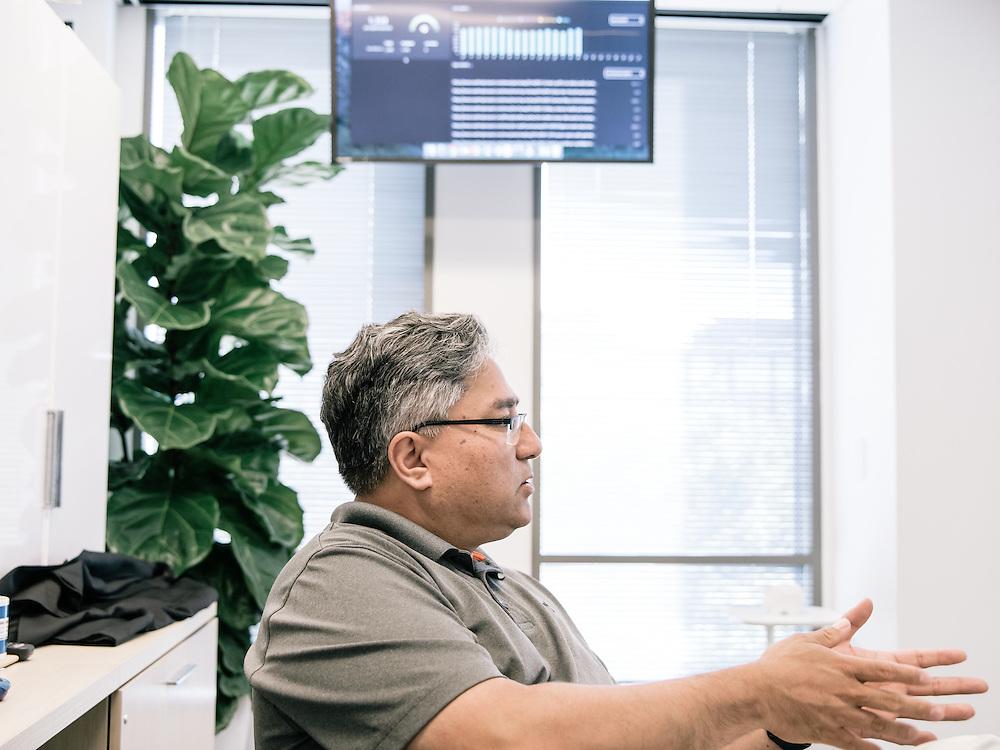 Shailesh Prakash, CIO & VP, digital product development at The Washington Post in the Post's new offices in Washington, D.C. on Sept. 12, 2016.