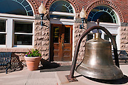 Bell in front of the Walsh Library, Ouray, Colorado
