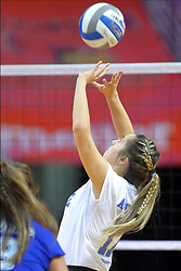 23 November 2017:  Paige Aspinwall during a college women's volleyball match between the Drake Bulldogs and the Indiana State Sycamores in the Missouri Valley Conference Tournament at Redbird Arena in Normal IL (Photo by Alan Look)