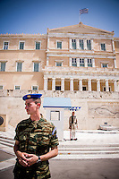 Athens, Greece - Greek parliament guards called the Evzones