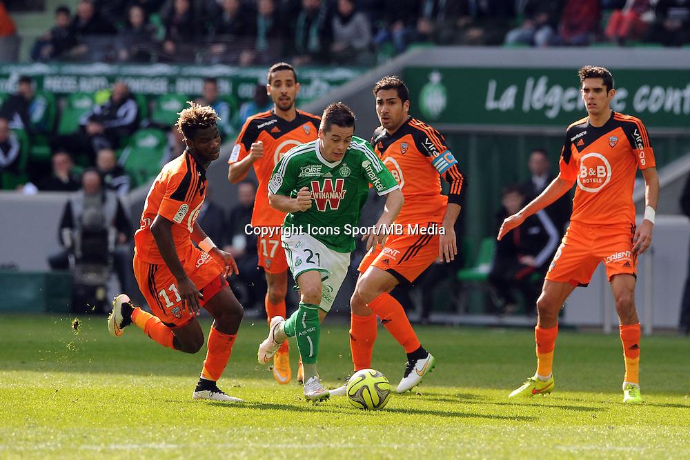 Romain HAMOUMA  - 08.03.2015 -  Saint Etienne / Lorient  -  28eme journee de Ligue 1 <br />Photo : Jean Paul Thomas / Icon Sport