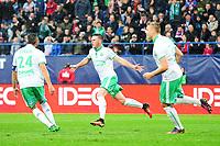 FOOTBALL : Caen vs Saint Etienne - Ligue 1 - 23/10/2016<br /> 14 Jordan VERETOUT (asse) - JOIE<br /> Norwy only