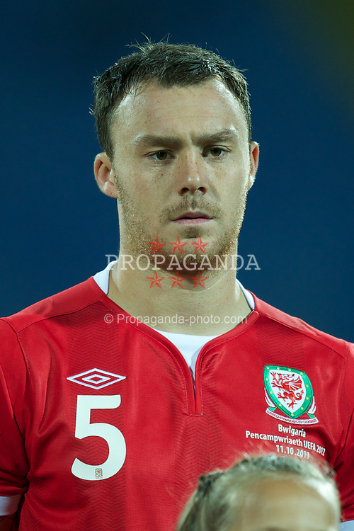 SOFIA, BULGARIA - Tuesday, October 11, 2011: Wales' Darcy Blake before the UEFA Euro 2012 Qualifying Group G match against Wales at the Vasil Levski National Stadium. (Pic by David Rawcliffe/Propaganda)