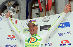 Jure Kocjan of Slovenia (Perutnina Ptuj) placed second in 4th stage of the 15th Tour de Slovenie from Celje to Novo mesto (157 km), on June 14,2008, Slovenia. (Photo by Vid Ponikvar / Sportal Images)/ Sportida)
