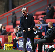 Charltomn Head Coach Jose Riga after an early miss during the Sky Bet Championship match between Charlton Athletic and Cardiff City at The Valley, London, England on 13 February 2016. Photo by Matthew Redman.