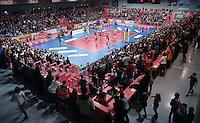 Volleyball 1. Bundesliga Saison 2016/2017  28.12.2016 TV Rottenburg - VfB Friedrichshafen Uebsicht der Paul Horn Arena