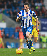 Brighton player Jamie Murphy surges forward during the Sky Bet Championship match between Brighton and Hove Albion and Milton Keynes Dons at the American Express Community Stadium, Brighton and Hove, England on 7 November 2015. Photo by Bennett Dean.