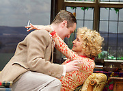 Hay Fever<br /> by Noel Coward<br /> at The Duke of York's Theatre, London, Great Britain <br /> press photocall <br /> 6th May 2015 <br /> <br /> Felicity Kendall as Judith Bliss<br /> <br /> Edward Killingback as Sandy Tyrell <br /> <br /> <br /> Photograph by Elliott Franks <br /> Image licensed to Elliott Franks Photography Services