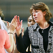 Virginia Commonwealth Head Coach Beth Cunningham after the VCU delaware game at the The Bob Carpenter Center In Newark Delaware Thursday Night.