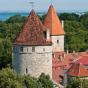 Medieval towers in Tallinn, Estonia