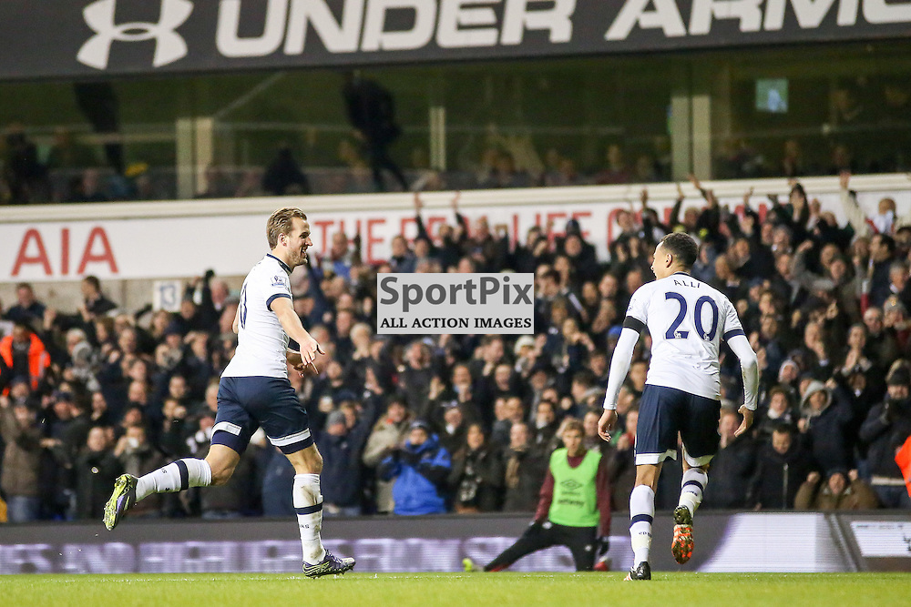 Harry Kane Celebrates During Tottenham Hotspur vs West Ham United on Sunday the 22nd November 2015.