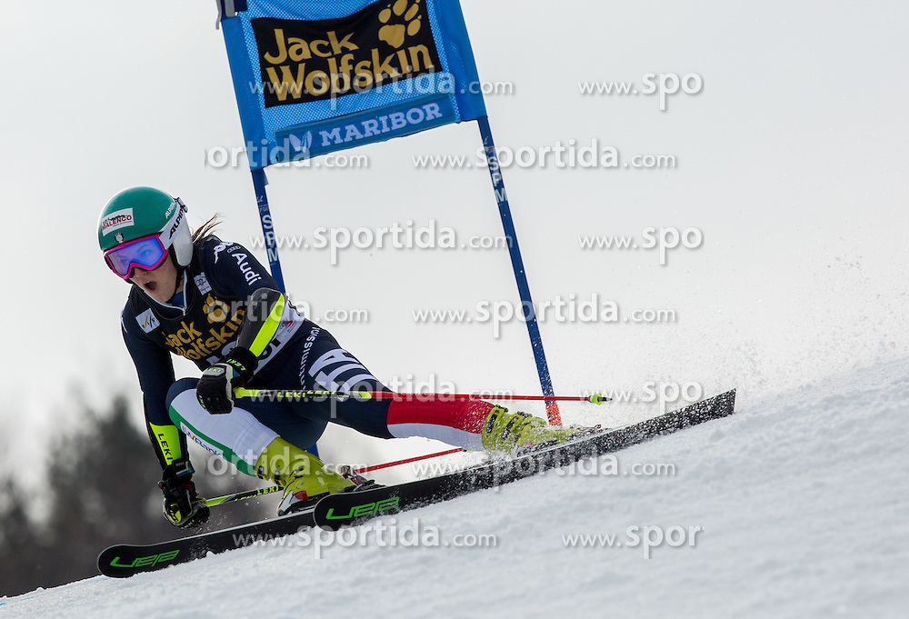 Nicole Agnelli (ITA) competes during 7th Ladies' Giant slalom at 52nd Golden Fox - Maribor of Audi FIS Ski World Cup 2015/16, on January 30, 2016 in Pohorje, Maribor, Slovenia. Photo by Vid Ponikvar / Sportida