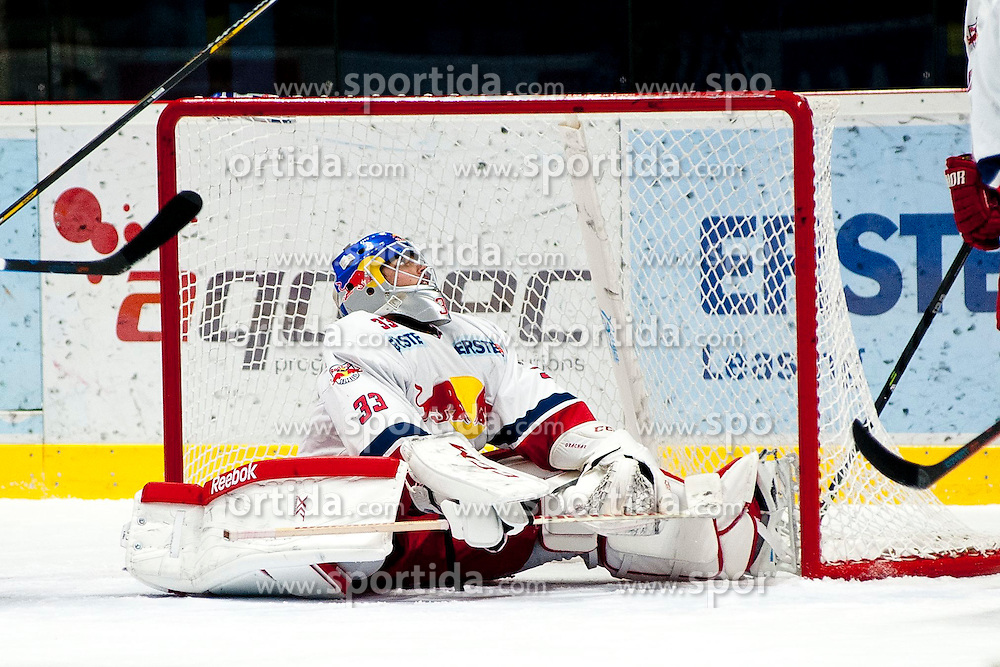 13.02.2015, Ice Rink, Znojmo, CZE, EBEL, HC Orli Znojmo vs EC Red Bull Salzburg, Platzierungsrunde, im Bild Luka Gracnar (EC Red Bull Salzburg ) // during the Erste Bank Icehockey League placement round match between HC Orli Znojmo and EC Red Bull Salzburg at the Ice Rink in Znojmo, Czech Republic on 2015/02/13. EXPA Pictures © 2015, PhotoCredit: EXPA/ Rostislav Pfeffer