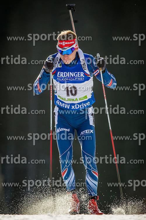 Ondrej Moravec (CZE) during Men 10 km Sprint at day 1 of IBU Biathlon World Cup 2015/16 Pokljuka, on December 17, 2015 in Rudno polje, Pokljuka, Slovenia. Photo by Urban Urbanc / Sportida