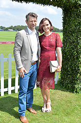 Victoria Pendleton and husband Scott at Cartier Queen's Cup Polo, Guard's Polo Club, Berkshire, England. 18 June 2017.<br /> Photo by Dominic O'Neill/SilverHub 0203 174 1069 sales@silverhubmedia.com