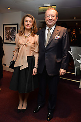 The Russian Ambassdor to UK ALEXANDER YAKOVENKO and his wife NANA at the Ave Maya Ballet gala in memory of Maya Plisetskava held at the English National Opera, St.Martin's Lane, London on 6th March 2016.