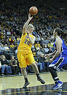 December 20, 2011: Iowa Hawkeyes forward Kelly Krei (20) passes the ball over Drake Bulldogs guard Kyndal Clark (4) during the NCAA women's basketball game between the Drake Bulldogs and the Iowa Hawkeyes at Carver-Hawkeye Arena in Iowa City, Iowa on Tuesday, December 20, 2011. Iowa defeated Drake 71-46.