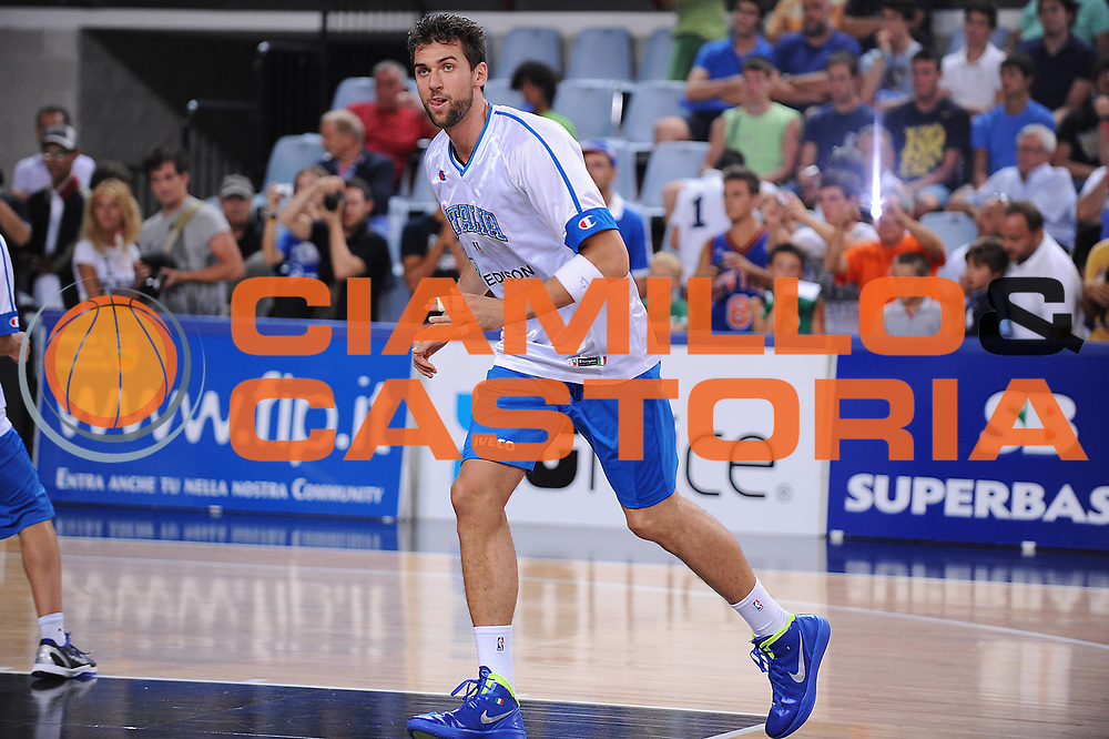 DESCRIZIONE : Rimini Trofeo Tassoni Italia Bosnia Italy Bosnia<br /> GIOCATORE : Andrea Bargnani<br /> CATEGORIA : before<br /> SQUADRA : Nazionale Italia Uomini <br /> EVENTO : Trofeo Tassoni<br /> GARA : Italia Bosnia<br /> DATA : 12/08/2011<br /> SPORT : Pallacanestro<br /> AUTORE : Agenzia Ciamillo-Castoria/M.Marchi<br /> Galleria : Fip Nazionali 2011 <br /> Fotonotizia : Rimini Trofeo Tassoni Italia Bosnia Italy Bosnia<br /> Predefinita :