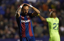 January 10, 2019 - Valencia, Valencia, Spain - Jose Luis Morales of Levante UD reacts during the Spanish Copa del Rey match between Levante and Barcelona at Ciutat de Valencia Stadium on Jenuary 10, 2019 in Valencia, Spain. (Credit Image: © AFP7 via ZUMA Wire)