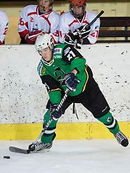 Tadej Snoj of Olimpija during Erste Bank Young Stars League ice hockey match between HD Jesenice Mladi and HK Olimpija, on November 4, 2012 in Ledena dvorana Bled, Bled, Slovenia. (Photo by Matic Klansek Velej / Sportida.com)