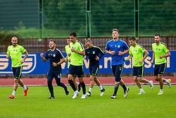 Branko Ilic, Nejc Vidmar during training of NK Olimpija Ljubljana , on June 13, 2018 in Sports park Siska, Ljubljana, Ljubljana, Slovenia. Photo by Ziga Zupan / Sportida
