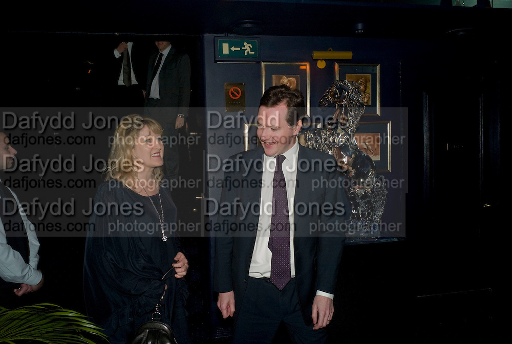 GEORGE OSBORNE, Book launch for Citizen by Charlie Brooks. Tramp. London. 1 April  2009