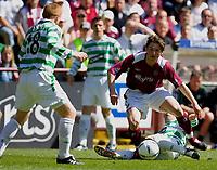 Hearts v Celtic, Scottish Premier League, Tynecastle Park, Edinburgh. Pic Shaun Dempsey, 15/05/2005<br /> Saulius Mikoliunas shots past Alan Thompsn as Neil lennon waits