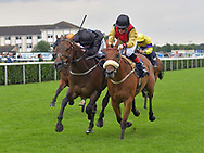 Percys Princess ridden by Jane Elliot (yellow sleeves) wins Betfair each way Edge Handicap stakes Div 1 during the Racing Welfare Charity Raceday meeting at Doncaster Racecourse, Doncaster<br /> Picture by Martin Lynch/Focus Images Ltd 07501333150<br /> 07/07/2017