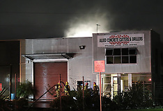 Auckland-Fire in roof of industrial building, Glendale