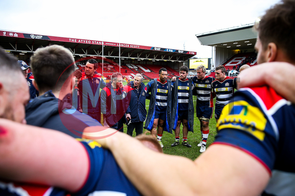 after Bristol Rugby win 12-11 - Rogan Thomson/JMP - 26/02/2017 - RUGBY UNION - Ashton Gate Stadium - Bristol, England - Bristol Rugby v Bath - Aviva Premiership.