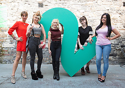 Repro Free: 11/09/2014<br /> Connected Girls, Venetia Quick, Elayne Harrington, Kate McGrew, Alanna Diddin and Nicole McQuillan pictured at the RT&Eacute; Two New Season Launch in Gateway House, Capel Street. Picture Andres Poveda