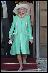 May 22, 2018 - London, London, United Kingdom - Image licensed to i-Images Picture Agency. 22/05/2018. London, United Kingdom. The Duchess of Cornwall  at the Prince of Wales' 70th Birthday Patronage Celebration in the gardens of  Buckingham Palace in London. (Credit Image: © Stephen Lock/i-Images via ZUMA Press)