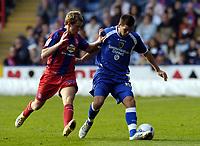 Photo: Olly Greenwood.<br />Crystal Palace v Cardiff City. Coca Cola Championship. 14/10/2006. Cardiff's Joe Ledley (R) and Crystal Palace's Stuart Green battle.