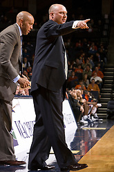 Auburn head coach Jeff Lebo during the UVA game.  The Auburn Tigers defeated the Virginia Cavaliers 58-56 at the University of Virginia's John Paul Jones Arena  in Charlottesville, VA on December 20, 2008.  (Special to the Daily Progress / Jason O. Watson)