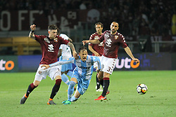 April 29, 2018 - Turin, Piedmont, Italy - Alessandro Murgia (SS Lazio) and Daniele Baselli (Torino FC) competes for the ball during the Serie A football match between Torino FC and SS Lazio at Olympic Grande Torino Stadium on April 29, 2018 in Turin, Italy..Final results is 0-1. (Credit Image: © Massimiliano Ferraro/NurPhoto via ZUMA Press)