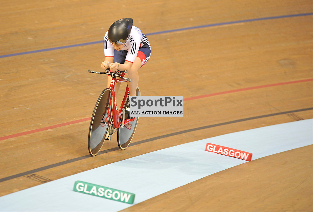 It was disappointment for Great Britain's Emily Nelson as she misses out on the Bronze medal in the Women's Individual Pursuit in the UCI Track Cycling World Cup, Sir Chris Hoy Velodrome, Emirates Arena, Glasgow, Saturday 03 November 2016...(c) Angie Isac | SportPix.org.uk