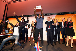 Teddy Riner during the Paris 2024 Party, Lima, Peru, on September 13, 2017. Photo by Paris 2024/ABACAPRESS.COM