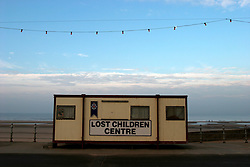 UK ENGLAND LANCASHIRE BLACKPOOL 1DEC04 - Signage for a lost children centre, consisting of an old container on Blackpool Promenade.....jre/Photo by Jiri Rezac....© Jiri Rezac 2004....Contact: +44 (0) 7050 110 417..Mobile:  +44 (0) 7801 337 683..Office:  +44 (0) 20 8968 9635....Email:   jiri@jirirezac.com..Web:    www.jirirezac.com....© All images Jiri Rezac 2004 - All rights reserved.