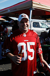 November 14, 2010; San Francisco, CA, USA;  San Francisco 49ers fan Joe Neto tailgates before the game against the St. Louis Rams at Candlestick Park.